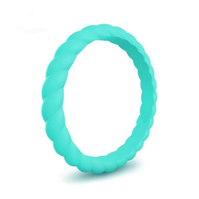Spiral - Turquoise Boy Silicone Ring