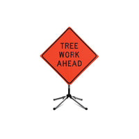 Fred Marvin 36 In. TREE WORK AHEAD Sign with Collapsible Stand