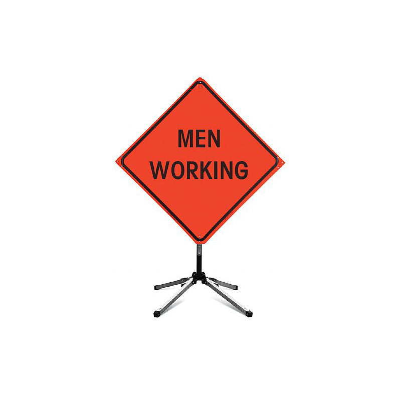 Fred Marvin MEN WORKING AHEAD Sign with Collapsible Stand