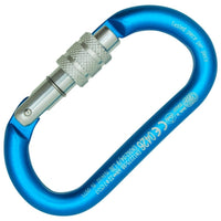 Kong Oval ALU CLassic Screw Sleeve Carabiner with Circular Section