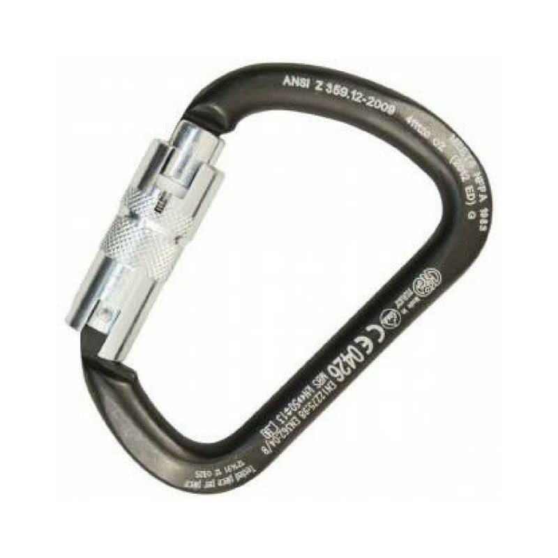 Kong X-Large C Steel Carabiner fitted with Auto Block ANSI
