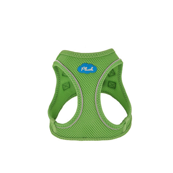 Plush Step In Air Mesh Harness - Grass Green
