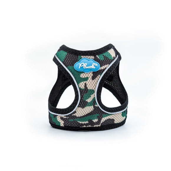 Plush Step In Air Mesh Harness - Camo