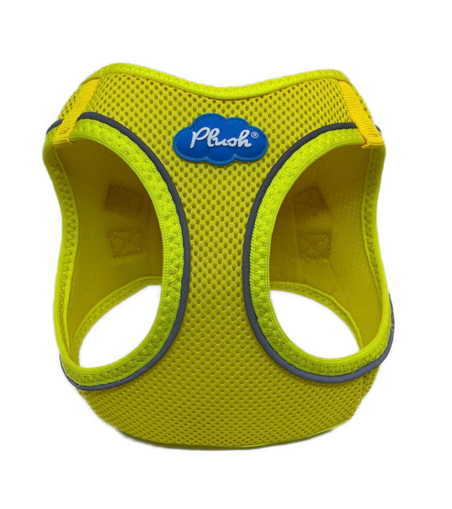 Plush Step In Air Mesh Harness - Blazing Yellow