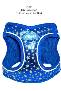 Plush Step In Glitter Glow Harness Navy