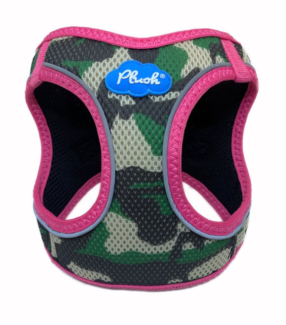 Plush Step In Air Mesh Harness - Camo/Pink