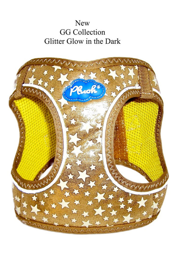 Plush Step In Glitter Glow Harness Gold