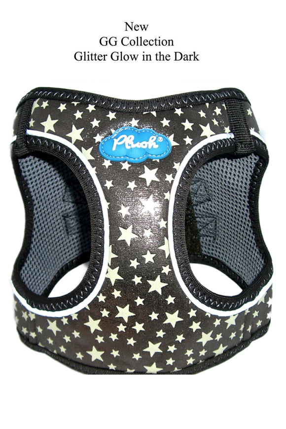 Plush Step In Glitter Glow Harness Gunmetal