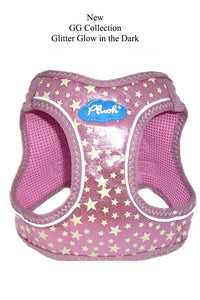 Plush Step In Glitter Glow Harness Pink