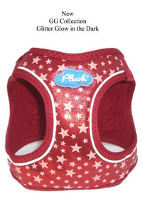 Plush Step In Glitter Glow Harness - Red