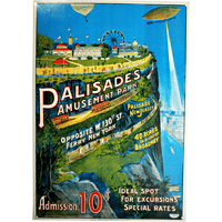 Palisades Amusement Park Sign - Loomzee