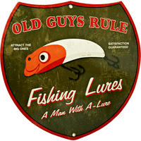 Old Guys Rule Fishing Lures Sign - Loomzee