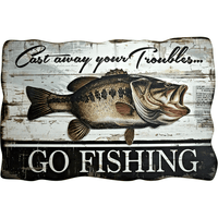 Cast Away Your Troubles, Go Fishing Sign - Loomzee