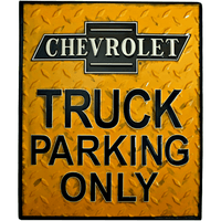 Chevrolet Truck Parking Only Sign - Loomzee