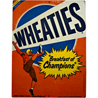 Wheaties Cereal Football Sign - Loomzee