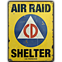 Air Raid Shelter Sign - Loomzee