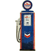 Chevron Gas Pump Sign - Loomzee