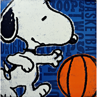 Snoopy Playing Basketball Sign - Loomzee