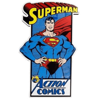 Superman Action Comics Wood Sign - Loomzee