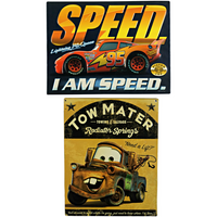 Cars Lightning McQueen & Tow Mater Signs Bundle - Loomzee