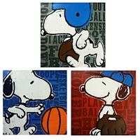 Snoopy Playing Sports Sign Bundle - Loomzee