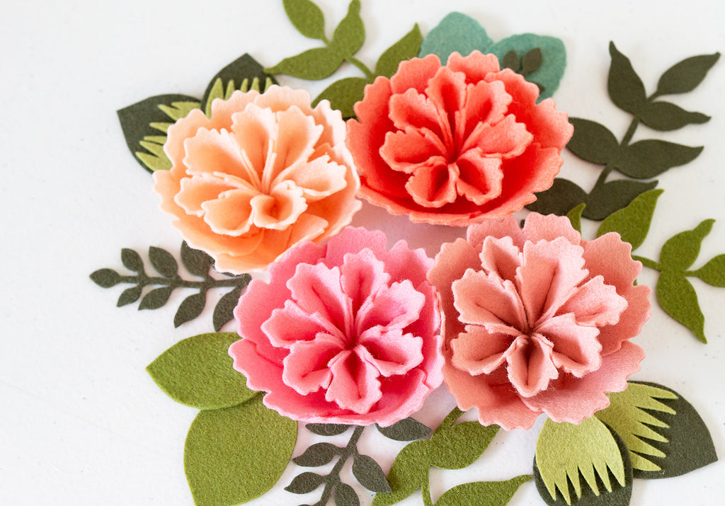 DIY Felt Flower using Die Cut Petals - Instagram Live