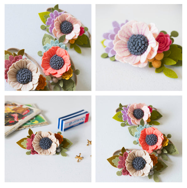 Diy Felt Flower Headband Instagram Live Flohra Design