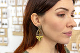 SOUTH WINDOW Earrings - Wood & Brass
