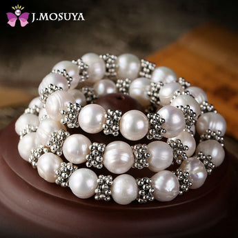 J.MOSUYA Natural Pearl Necklace Women Vintage India Snowflake Real Pearl Jewelry - urbanlifejewelry