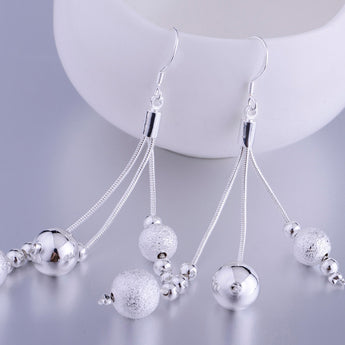 pendant shiny graceful silver plated earrings 925 jewelry for women silver earrings