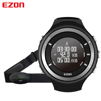 EZON G3 Professional Running Watch Heart Rate Monitor Bluetooth GPS Tracker Altimeter Thermometer Hiking Running Military Watch - urbanlifejewelry