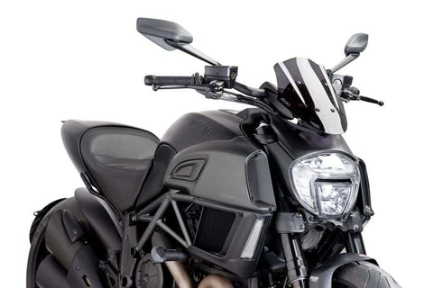 Puig New Gen Windscreen with Quick-Lock for Diavel 2014-2017