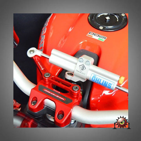Ducabike Steering Damper Mount with Ohlins Steering Damper