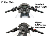 Woodcraft Clipon Riser Set with Adapter Plate for Ducati Monster 696-796-1100