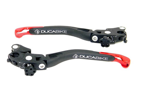 Ducabike Adjustable Brake and Clutch 'Racing' Levers
