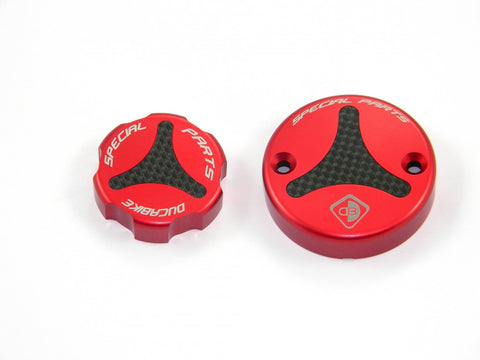 Ducabike Clutch-Brake Reservoir Fluid Tank Caps