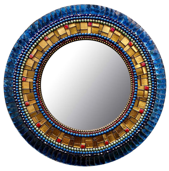 Aztec Blue Mirror by Angie Heinrich