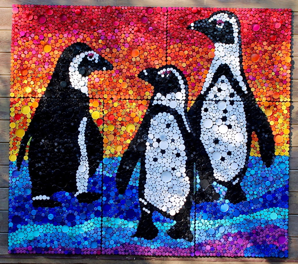 African Penguins on the Coast by Lori Kay Farr
