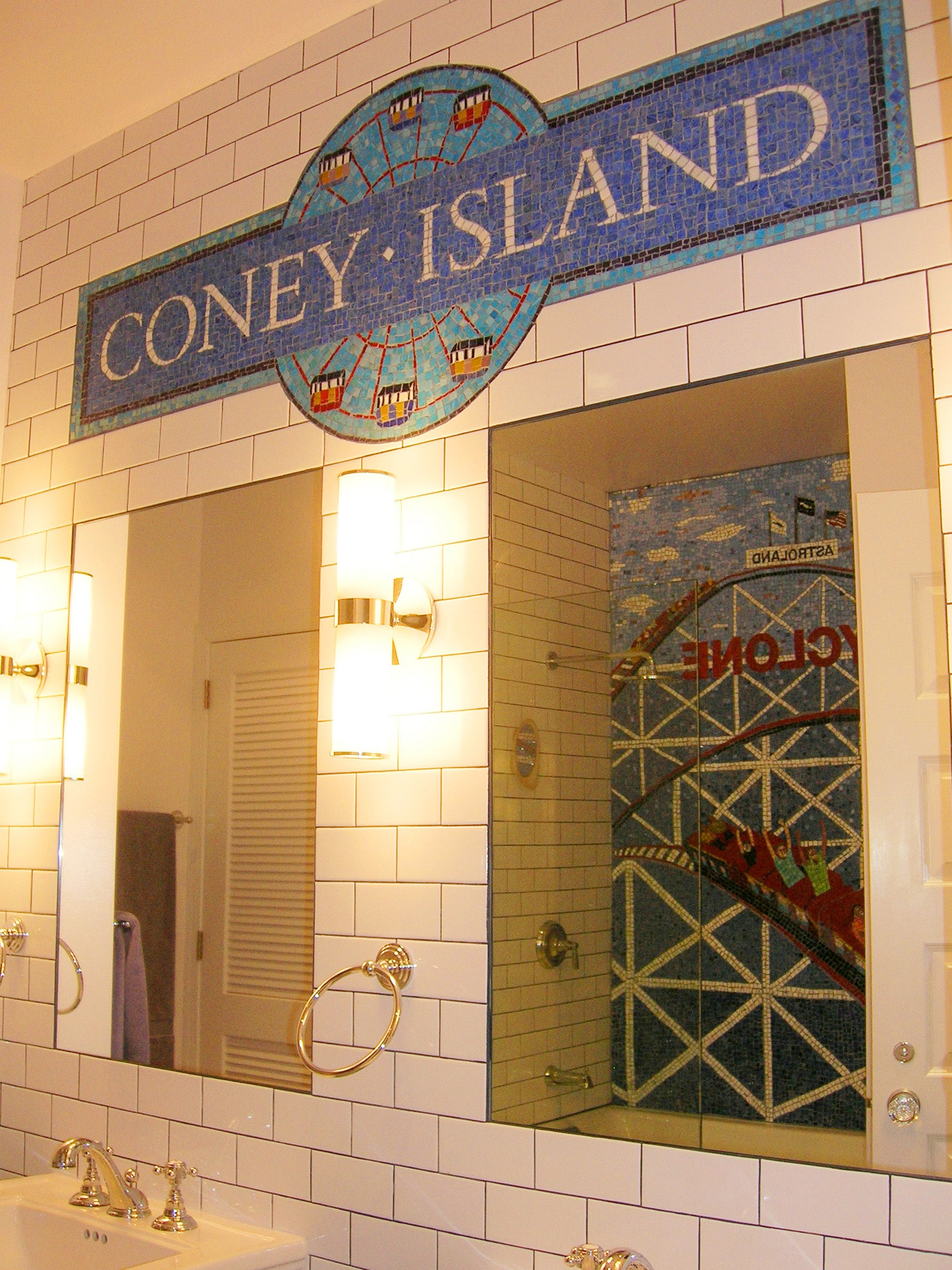 Coney Island Inspired Mosaic by Cathleen Newsham