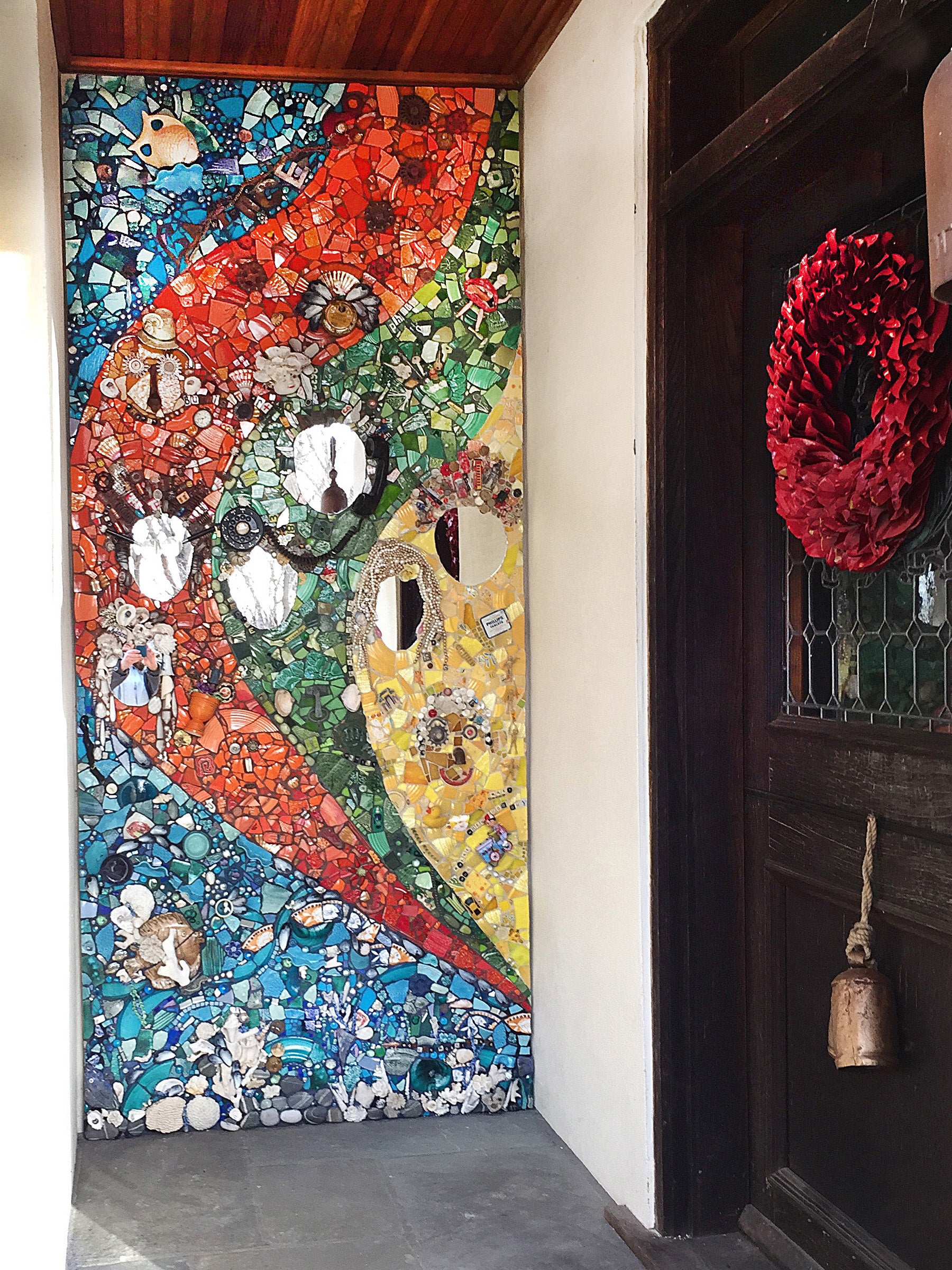Entryway Mosaic, Mount Kisco, N.Y. by Cathleen Newsham