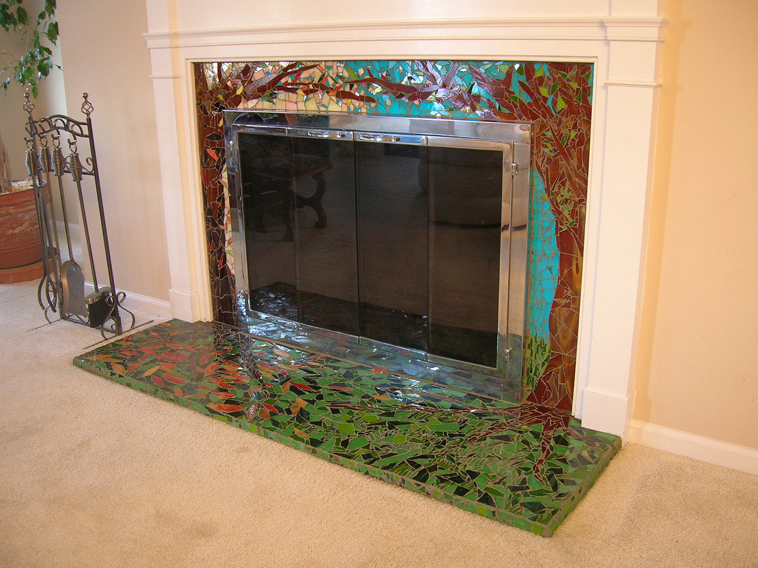 Enchanted Forest Fireplace by Cathleen Newsham