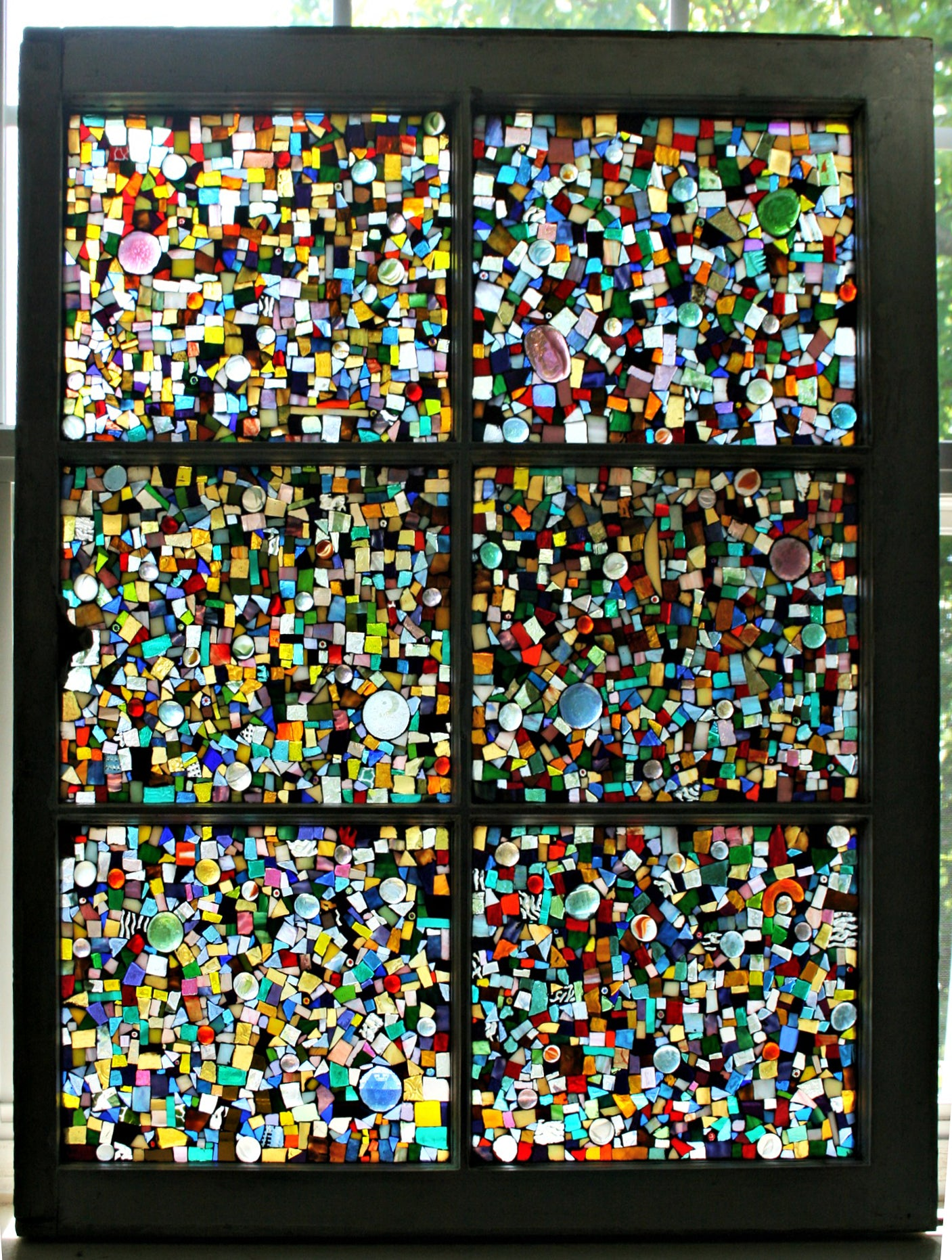 Scrap Glass Old Window by Cindy White
