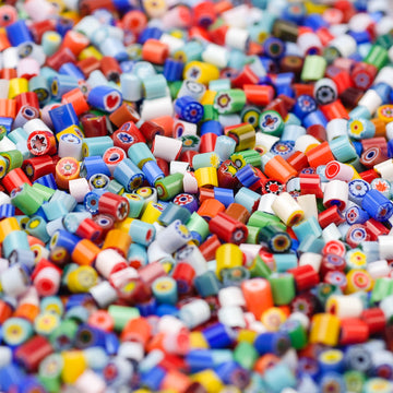 2-3mm Assorted Opaques Millefiori - 1 oz.