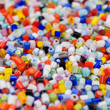 2-3mm Assorted Transparents Millefiori - 1 oz.
