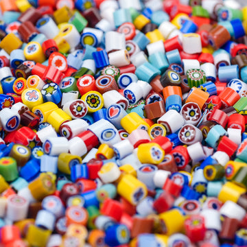 3-4mm Assorted Opaques Millefiori - 1 oz.