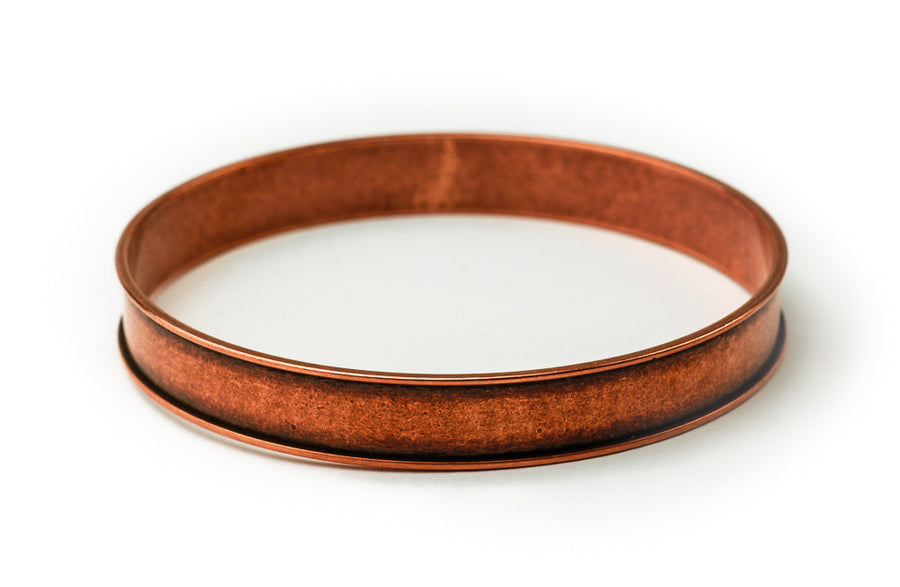 Bangle Bracelet Channel - Antique Copper