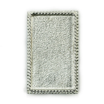 Ornate Brooch Rectangle  - Sterling Silver
