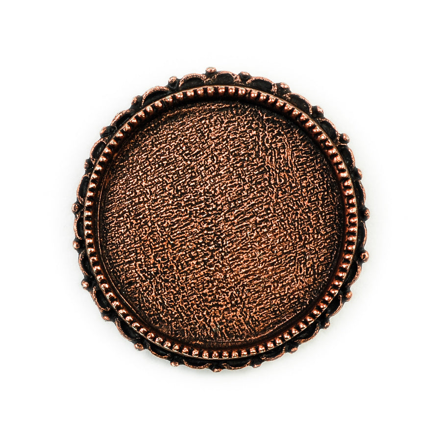 Ornate Brooch Circle  - Antique Copper