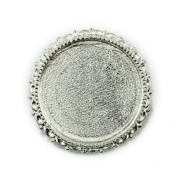 Ornate  Brooch Circle  - Sterling Silver