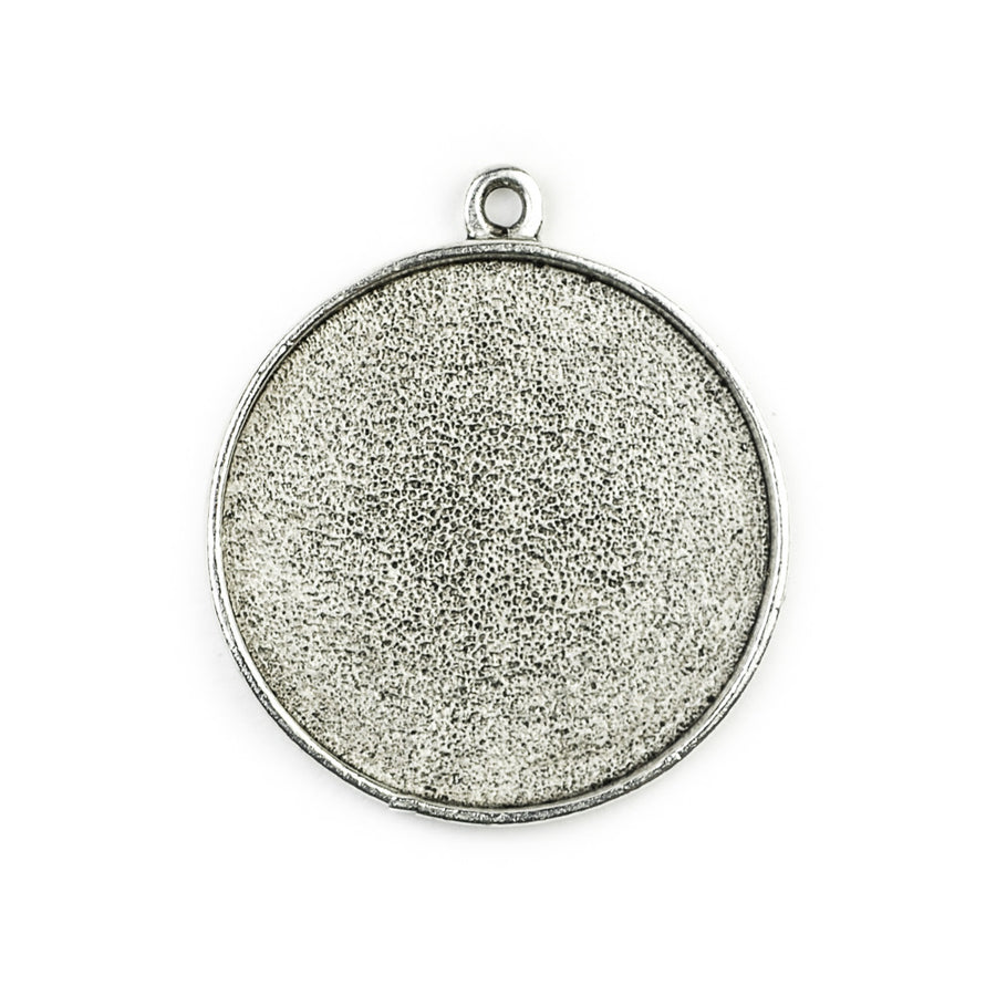 Pendant Circle - Antique Silver